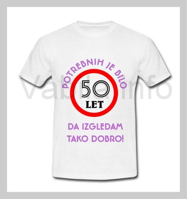 Majica ženska za rojstni dan s tiskom za 50 let ABRAHAM - 229