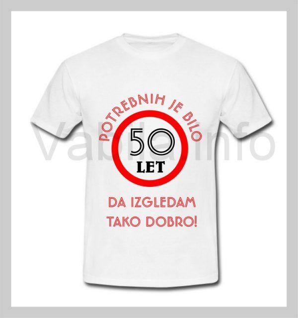 Majica moška za rojstni dan s tiskom za 50 let ABRAHAM - 227