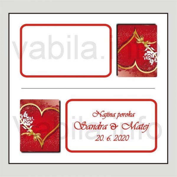 Sedežni red kartončki – komplet 50 kartončkov za Poroko – Rojstni dan - 165