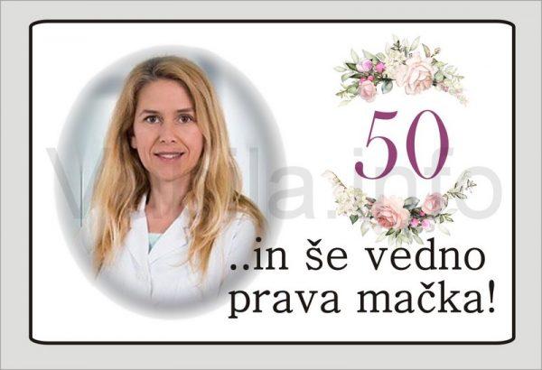 Magnet ženski za rojstni dan 50 let ABRAHAMA – 078