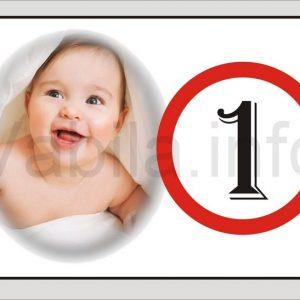 Magnet otroški za 1 rojstni dan s tiskom - 077