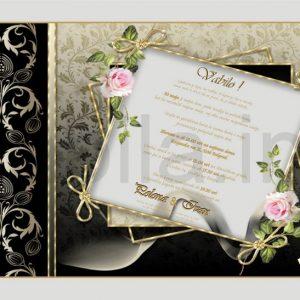 Vabila za Poroko – komplet 10 Poročnih vabil + kuverte - 152