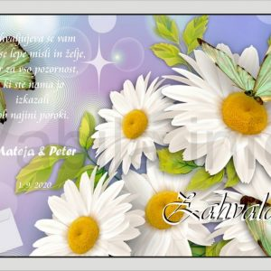 Zahvale za Poroko – komplet 10 Poročnih zahval + kuverte - 167