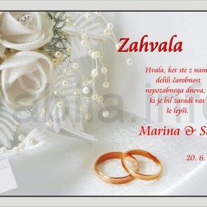 Zahvale za Poroko – komplet 10 Poročnih zahval + kuverte – 150