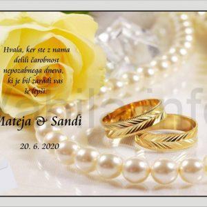Zahvale za Poroko – komplet 10 Poročnih zahval – 171
