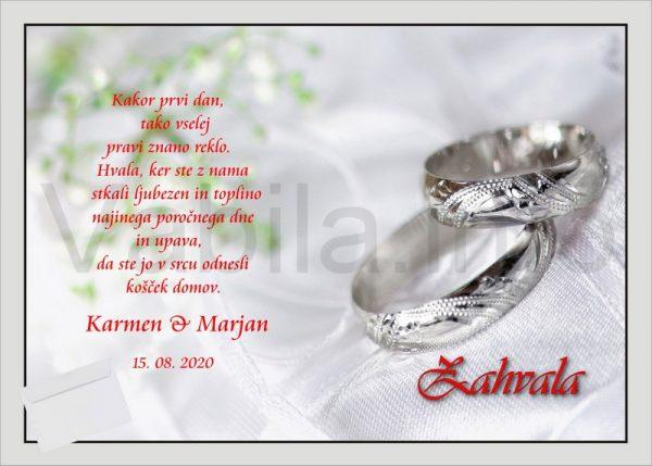 Zahvale za Poroko – komplet 10 Poročnih zahval – 172