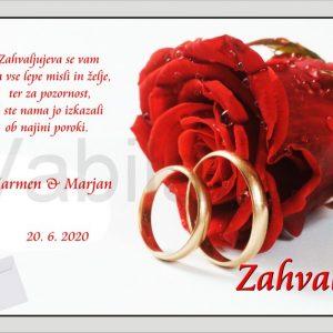 Zahvale za Poroko – komplet 10 Poročnih zahval – 151