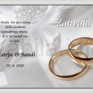 Zahvale za Poroko – komplet 10 Poročnih zahval + kuverte – 174