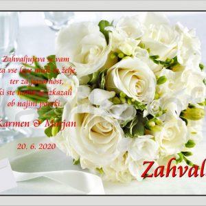 Zahvale za Poroko – komplet 10 Poročnih zahval – 176