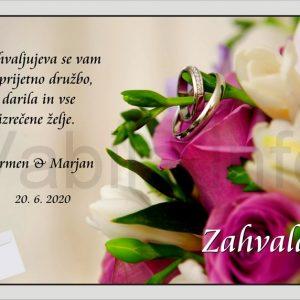 Zahvale za Poroko – komplet 10 Poročnih zahval + kuverte – 177