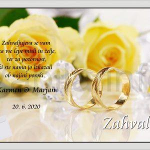 Zahvale za Poroko – komplet 10 Poročnih zahval + kuverte – 179