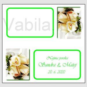Sedežni red kartončki – komplet 50 kartončkov za Poroko – Rojstni dan - 202