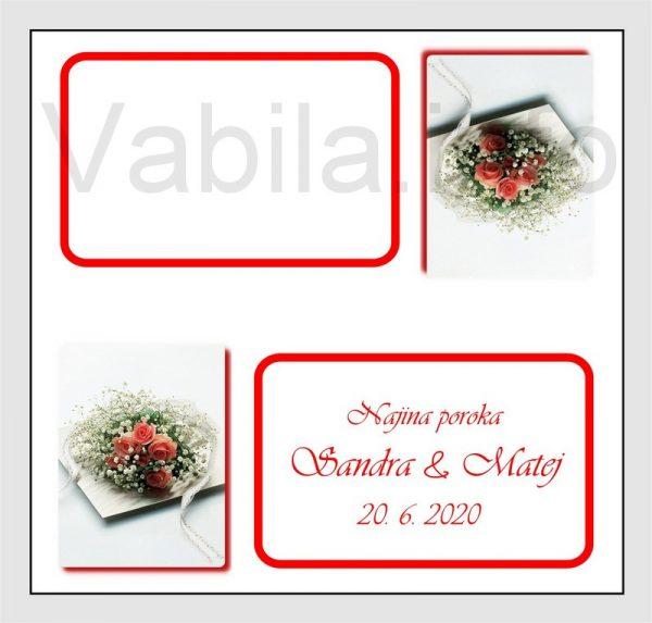 Sedežni red kartončki – komplet 50 kartončkov za Poroko – Rojstni dan - 204