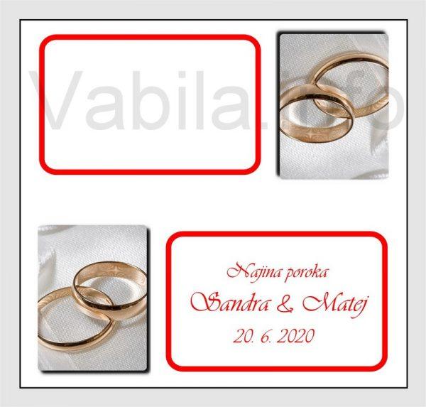 Sedežni red kartončki – komplet 50 kartončkov za Poroko – Rojstni dan - 205