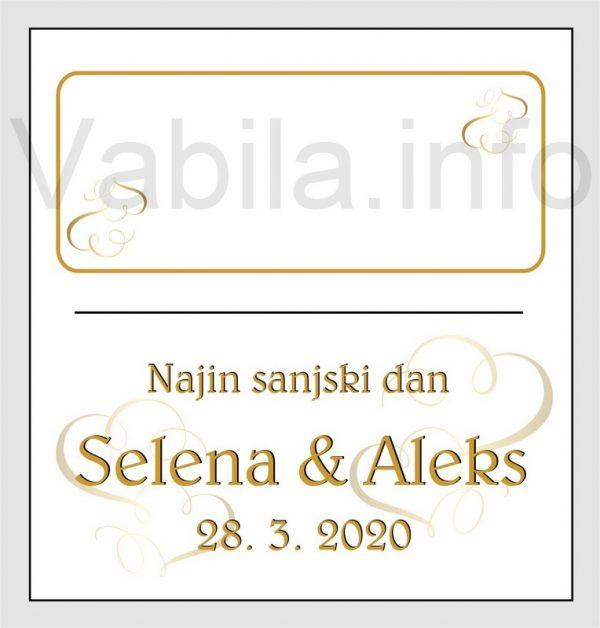 Sedežni red kartončki – komplet 50 kartončkov za Poroko – Rojstni dan - 208