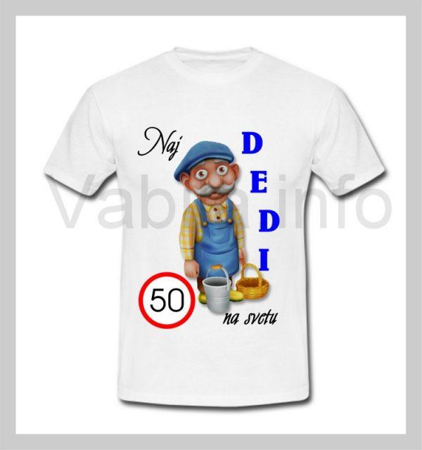 Majica moška za rojstni dan 50 let s tiskom DEDI - 063