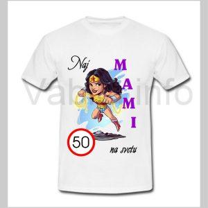 Majica ženska za rojstni dan 50 let s tiskom MAMI - 232