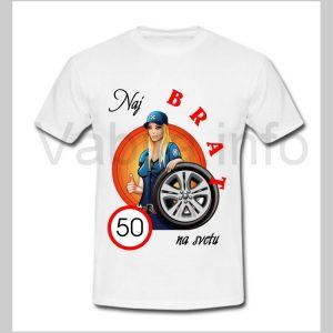 Majica moška za rojstni dan 50 let s tiskom BRAT - 226