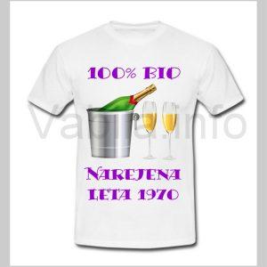 Majica ženska za rojstni dan 50 let ABRAHAM s tiskom - 235