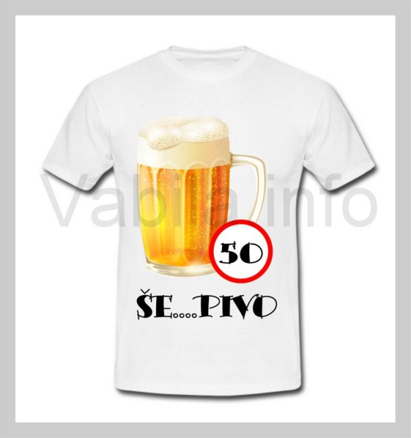 Majica moška za rojstni dan s tiskom za 50 let ABRAHAM - 250