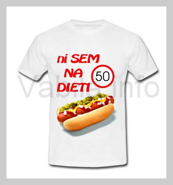 Majica moška za rojstni dan s tiskom za 50 let ABRAHAM - 240