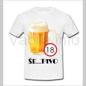 Majica moška za rojstni dan 18 let s tiskom - 239