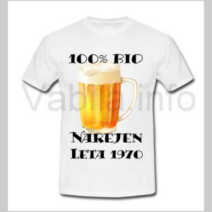 Majica moška za rojstni dan s tiskom za 50 let ABRAHAM - 252