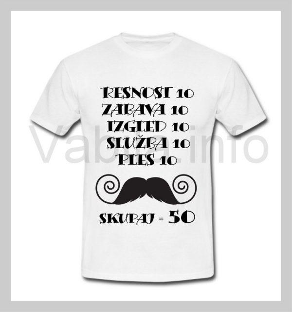 Majica moška za rojstni dan s tiskom za 50 let ABRAHAM - 253
