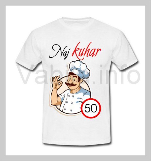 Majica moška za rojstni dan s tiskom za 50 let ABRAHAM - 246