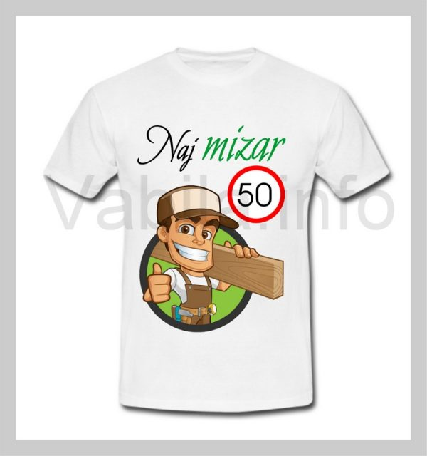 Majica moška za rojstni dan s tiskom za 50 let ABRAHAM - 249