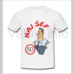 Majica moška za rojstni dan s tiskom za 50 let ABRAHAM - 248