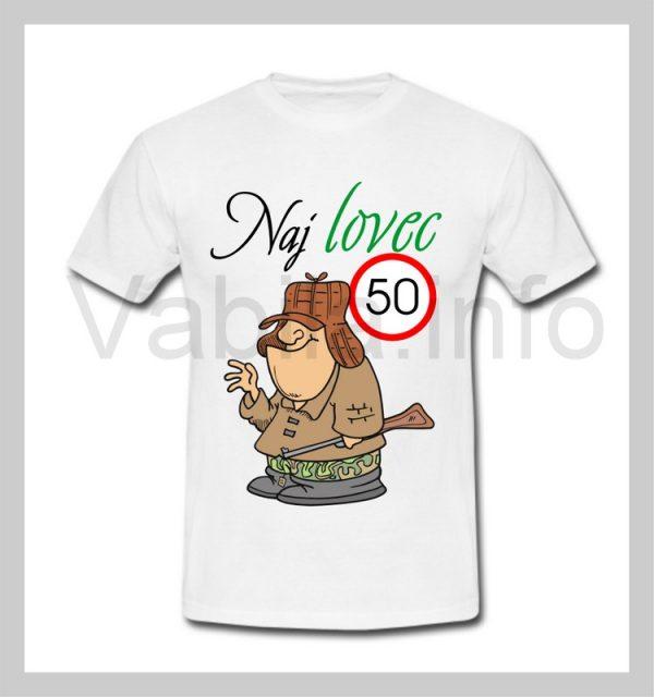 Majica moška za rojstni dan s tiskom za 50 let ABRAHAM - 247