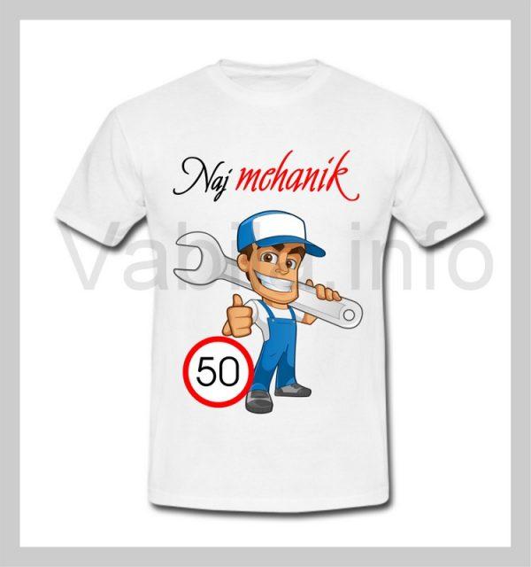 Majica moška za rojstni dan s tiskom za 50 let ABRAHAM - 244