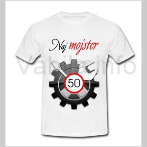 Majica moška za rojstni dan s tiskom za 50 let ABRAHAM - 243