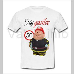 Majica moška za rojstni dan s tiskom za 50 let ABRAHAM - 242