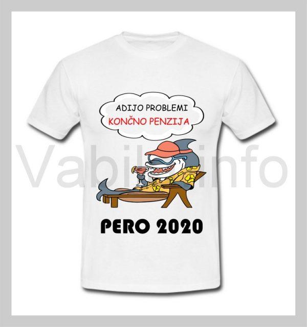 Majica moška za PENZIJO s tiskom - 265