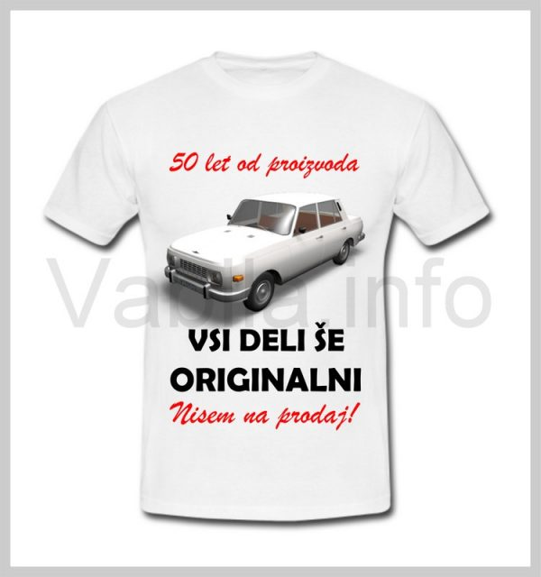 Majica moška za rojstni dan s tiskom za 50 let ABRAHAM - 386