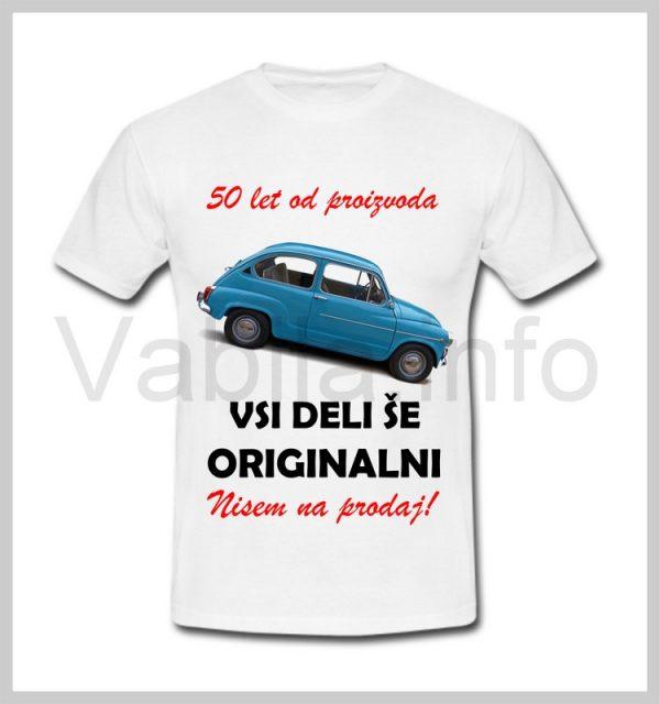 Majica moška za rojstni dan s tiskom za 50 let ABRAHAM - 387