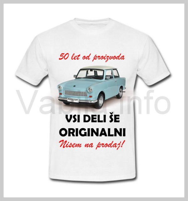 Majica moška za rojstni dan s tiskom za 50 let ABRAHAM - 389