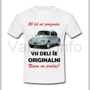 Majica moška za rojstni dan s tiskom za 50 let ABRAHAMA - 390