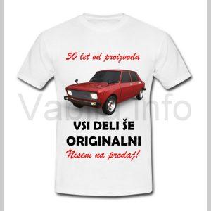 Majica moška za rojstni dan s tiskom za 50 let ABRAHAMA - 392