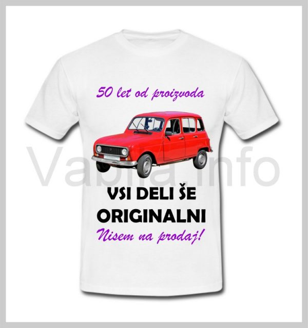 Majica ženska za rojstni dan s tiskom za 50 let ABRAHAMA - 395