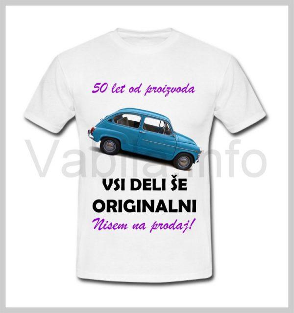 Majica ženska za rojstni dan s tiskom za 50 let ABRAHAMA - 397