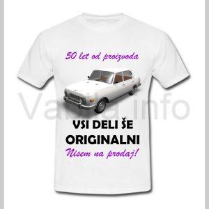 Majica ženska za rojstni dan s tiskom za 50 let ABRAHAMA - 399