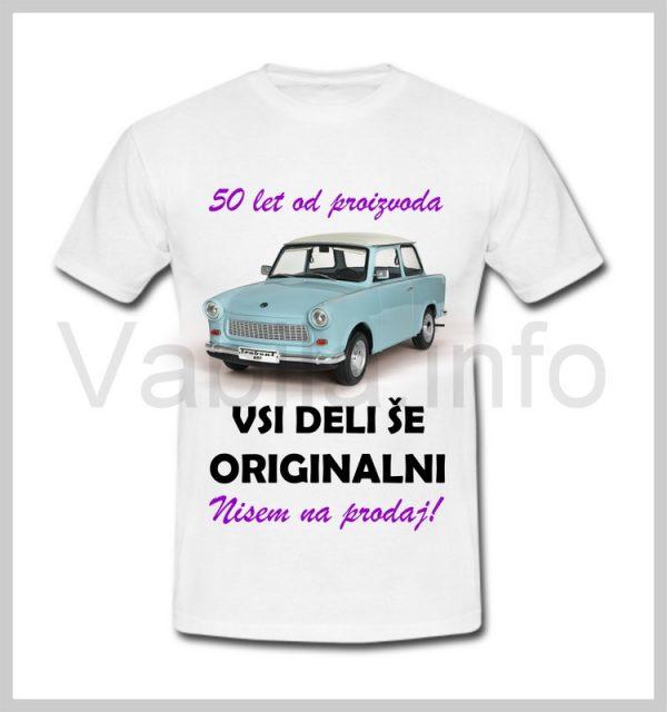 Majica ženska za rojstni dan s tiskom za 50 let ABRAHAMA - 400