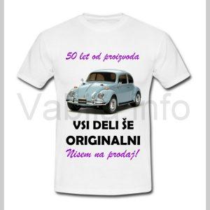 Majica ženska za rojstni dan s tiskom za 50 let ABRAHAMA - 401