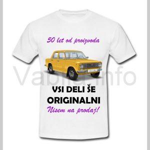 Majica ženska za rojstni dan s tiskom za 50 let ABRAHAMA - 402