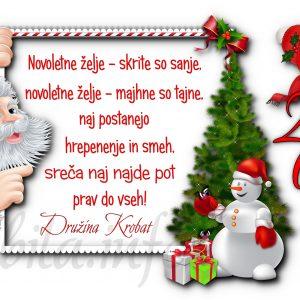 Voščilnice otroške - družinske 2021 - 20?? za Božič - Novo leto - komplet 10 otroških voščilnic + kuverte - 464