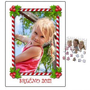 Puzzle sestavljanka + škatlica 2021 - 20?? otroška za Novo leto Božič – 456