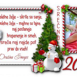 Voščilnice otroške 2021 - 20?? za Božič - Novo leto - komplet 10 otroških voščilnic + kuverte - 463